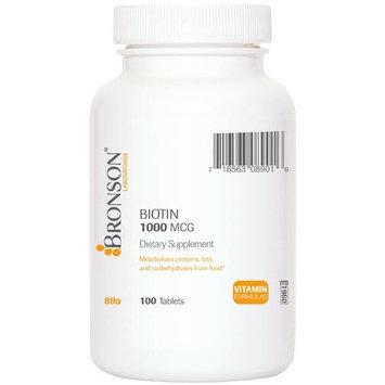 Bronson Biotin 1000 mcg, 100 Tablets