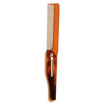 SunniMix Folding Men Beard Shaving Shaping Comb Mustache Brush Styling Template - Gray