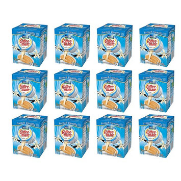 Coffee-mate Coffee Creamer Liquid Singles, French Vanilla, 24 Count, Pack of 12