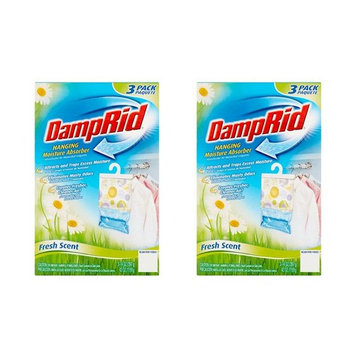 DampRid Hanging Bag Moisture Absorber- Fresh Scent 14 oz. - 2 Count