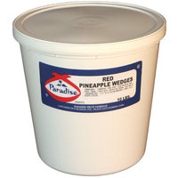Paradise Red Pineapple Wedges, 10 Pound Tub