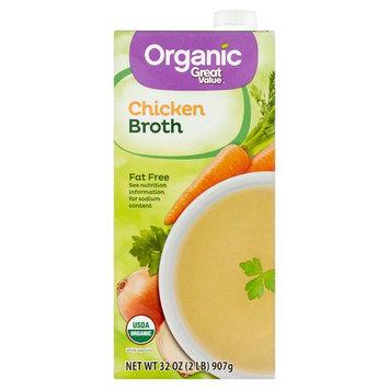 Great Value Organic Chicken Broth, 32 oz