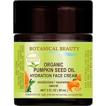 ORGANIC PUMPKIN SEED OIL HYDRATION FACE CREAM. For NORMAL - DRY - SENSITIVE SKIN. 2 Fl. oz - 60 ml.