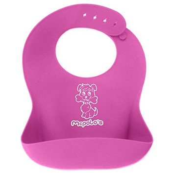 McPolo's Very Smiley Kitty iBib 100% Portable Silicone Baby Bib - Waterproof with Crumb Catcher Pocket Ultra Soft Easily Wipes Clean Stains Off – Best for...