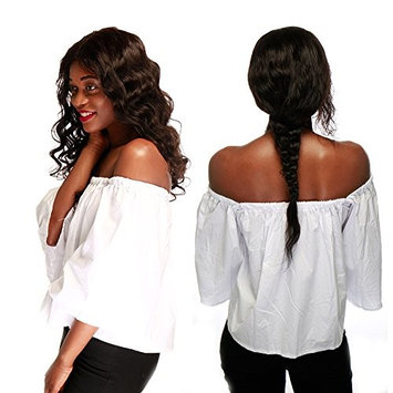 10''-22'' Glueless Virgin Brazilian Human Hair Lace Front Wig Grade 6A Deep Invisible Lace Wig Natural Hairline With Baby Hair Body Wave+Stretchable Elastic Wig Net (10'' / 10 inch,#1B Natural Black)