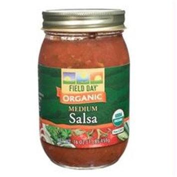 Field Day B21634 Field Day Organic Medium Salsa -12x16oz
