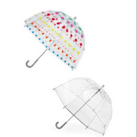 totes ISOTONER Kids Clear Bubble Umbrella (Pack of 2), Dots/Clear