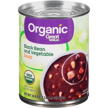 Great Value Organic Black Bean & Vegetable Soup, 18.8 oz (4 Packs)