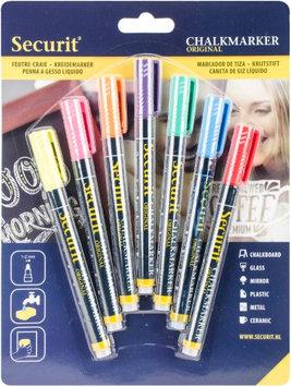 Securit Liquid Chalk Markers 7/Pkg-Assorted Colors, Small Nib