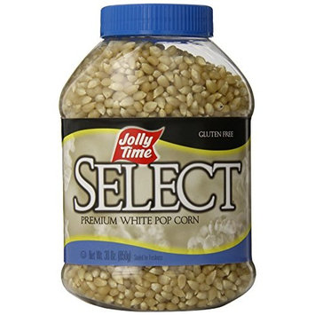 JOLLY TIME Select Premium White Popcorn Kernels - Whole Grain & Non-GMO, 30 oz Jars (Pack of 6)
