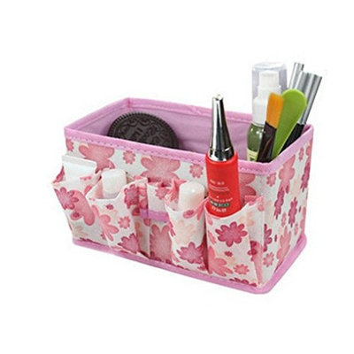 Hot, Yang-Yi Women Gift Makeup Cosmetic Storage Box Bag Bright Organiser Foldable Stationary Container Bag