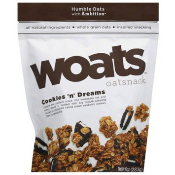 Humble Oats with Ambition Woats Cookies 'n' Dreams Oatsnack, 10 oz, (Pack of 9)