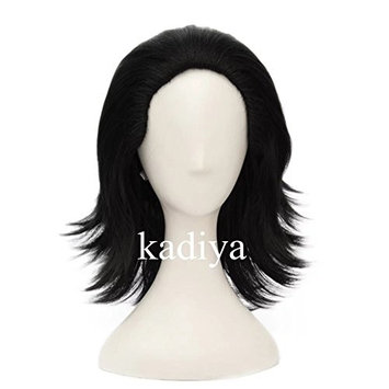 Kadiya Cosplayer Cosplay Wigs Black Short Fluffy Handsome Party Halloween Wig