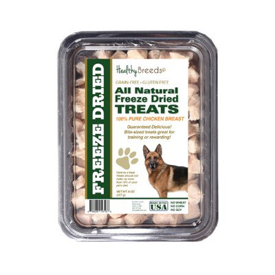 Healthy Breeds 840235147138 8 oz German Shepherd All Natural Freeze Dried Treats Chicken Breast