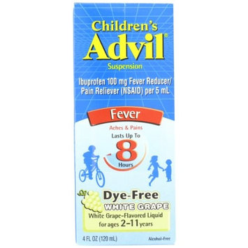 2 Pack - Advil Children's Suspension Fever, White Grape 4oz Each