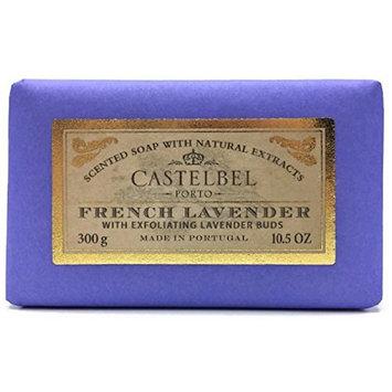 Castelbel Porto French Lavender Exfoliating Soap Bar 10.5 Oz