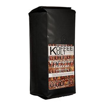 Koffee Kult Ethiopian Harrar Coffee - Ground Coffee- Gourmet Single Origin - 1 Lb Bag (Ground) - Packaging May Vary