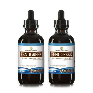 Secrets Of The Tribe Fenugreek Tincture Alcohol-FREE Extract, Organic Fenugreek (Trigonella foenum-graecum) Dried Seed 2x4 oz