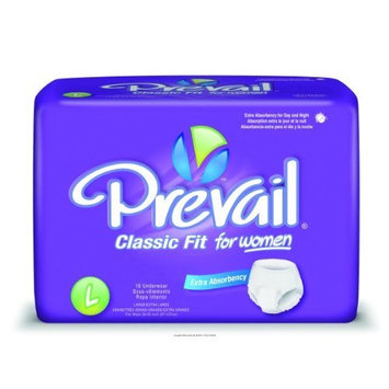 Prevail Underwear for Women, Classic Fit Womens Sm-Md, (1 CASE, 80 EACH)