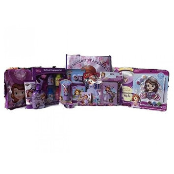 Disney Sofia the First Bath, Stationery, Activity and Lunch Bag Set with Gift Tote Bag