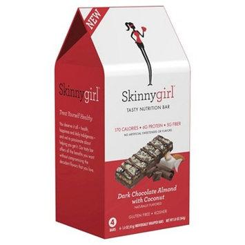 Skinnygirl Tasty Nutrition Bar Protein, Dark Chocolate Almond with Coconut, 4 pk, 1.4 oz