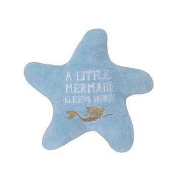 Disney Ariel Sea Princess Starfish Decorative Pillow, Blue/White/G