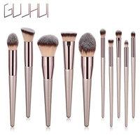 ❀Jinjiu False Lashes❀,10PCS Wooden Foundation Cosmetic beauty rlrgant charming Eyebrow Eyeshadow Brush Makeup Brush Sets Tools (C): Beauty