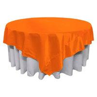 LA Linen TCbridal90x90-OrangeB48 Bridal Satin Square Tablecloth Orange - 90 x 90 in.