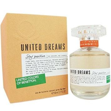 UNITED DREAMS STAY POSITIVE * Benetton 2.7 oz / 80 ml EDT Women Perfume Spray