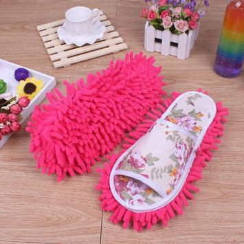 Womail Women Dust Mop Slippers Socks Microfiber House Slippers Bedroom Shoes Hot