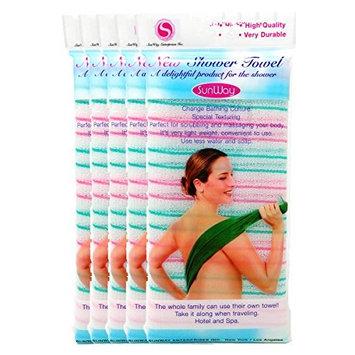 SunWay Exfoliating Nylon Bath and Shower Cloth/Towel (X5)