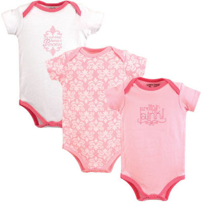 Luvable Friends Baby Girl Bodysuits, 3-Pack