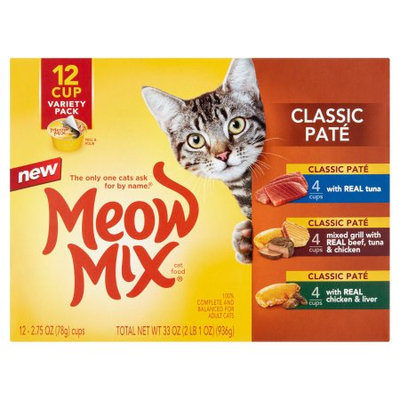 Meow Mix® Classic Pate Cat Food - Variety Pack, 12ct size: 2.75 Oz