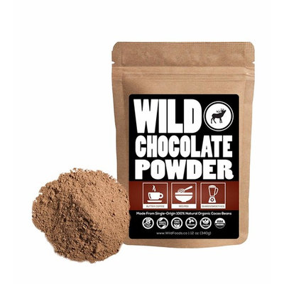Organic Raw Cocoa Powder, Wild Dark Chocolate Powder, Handcrafted, Single-Origin, Fair Trade, Organically Grown Non-Alkalized Cacao from South American Cocoa beans