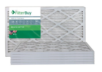 AFB Platinum MERV 13 10x20x1 Pleated AC Furnace Air Filter. Filters. 100% produced in the USA. (Pack of 6)