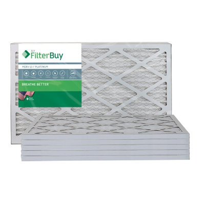 AFB Platinum MERV 13 12.75x21x1 Pleated AC Furnace Air Filter. Filters. 100% produced in the USA. (Pack of 6)