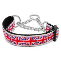 Mirage Dog Supplies Tiled Union Jack(Uk Flag) Nylon Ribbon Collar Martingale Medium