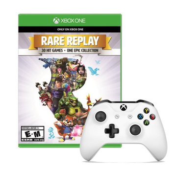Microsoft Xbox One Controller in White with Rare Replay