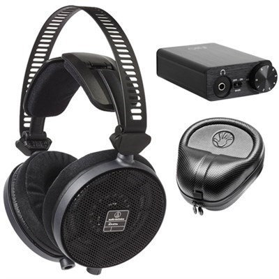 Audio-Technica R70X Professional Open-Back Reference Black Headphones w/ Bundle