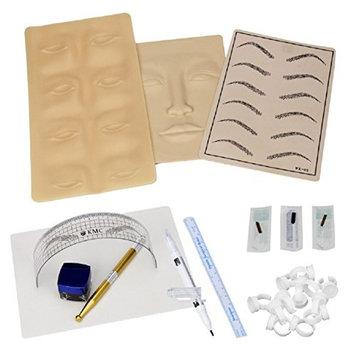 Permanent Makeup Microblading Eyebrow Tattoo kit Pen Needle Paste Skin Ruler