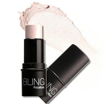 Cnlinkco Highlighter Stick Shimmer Powder Cream Shadow Highlighting Waterproof Face Eyes Makeup Cosmetics (01 Silver)