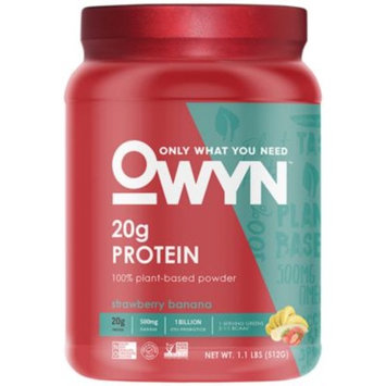 OWYN Plant Based Protein Powder - STRAWBERRY BANANA (1.1 Pound Powder) by Only What You Need Inc. at the Vitamin Shoppe