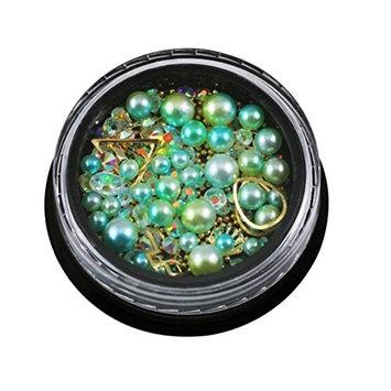❀Jinjiums nail art❀, 1 Box rich and vibrantNail Beads Hollow Nail Art Decorations Metal Manicure DIY Nail Tips Art no pollution no hurt (E) : Beauty