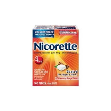 Rugby Nicotine Polacrilex Gum USp, 4mg (nicotine_ Stop Smoking Aid 4 mg 100 coated cinnamon pieces