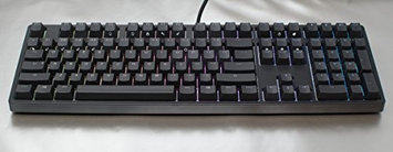 iKBC F108 RGB Double-Shot PBT Full Size Mechanical Gaming Keyboard with Cherry MX Red Switch-Blk