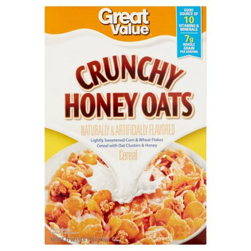 Wal-mart Store, Inc. Great Value Crunchy Honey Oats Cereal, 27 oz