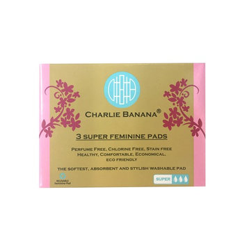 Charlie Banana Reusable Feminine Pads Super White, White