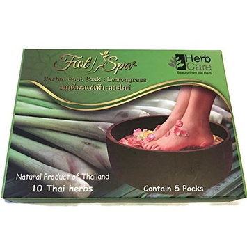 3 Packs x Therapeutic Foot Soak: Lemongrass Moisturizing Organic Herbal Blend Relief for Dry Cracked Heels, Callused Feet, Athletes Foot, Relief Itch, Relax & Reinvigorate Your Feet