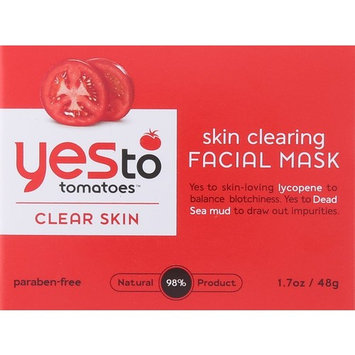 Yes To Tomatoes Skin Clearing Facial Mask, 1.7 Fluid Ounce + LA Cross Blemish Remover 74851
