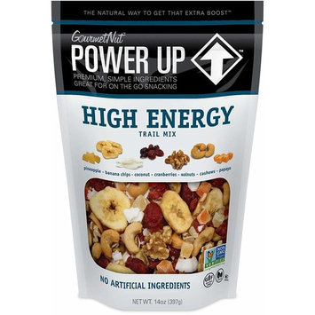 Power Up Trail Mix, High Energy Trail Mix, Non-GMO, Vegan, Gluten Free, No Artificial Ingredients, Gourmet Nut, 14 oz Bag [High Energy]